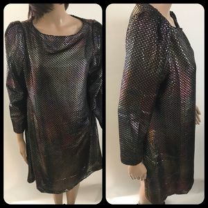 Free People Sequin T-Shirt Dress